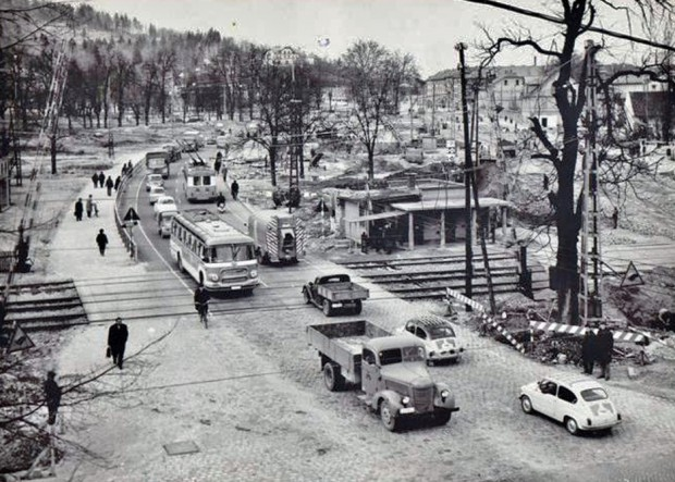 1962 - Celovška cesta, preden so zgradili železniški nadvoz