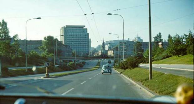1969 - vožnja po Celovški cesti proti Hotelu Lev