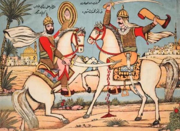 Bitka med Alijem (na levi) in Ben Wadom blizu Medine | Wikimedia