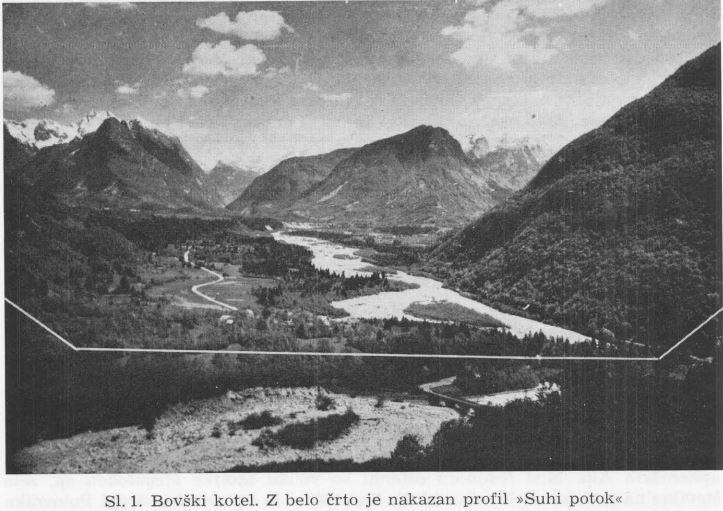 """Fotografija iz študije """"Geološke raziskave soške doline med Bovcem in Kobaridom"""""""
